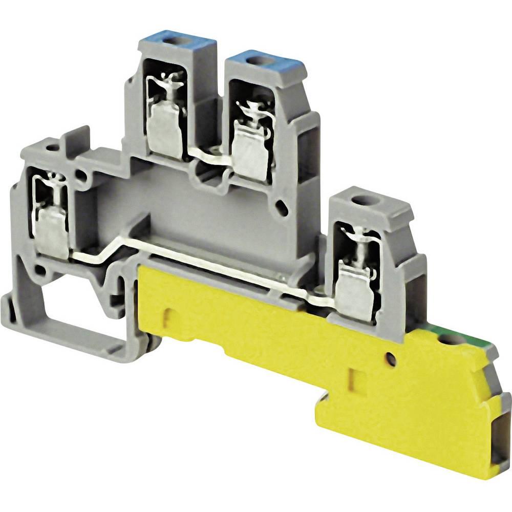 installations-etageklemme 6 mm Skruer Belægning: Terre, N, L Grå ABB 1SNA 110 417 R1400 1 stk