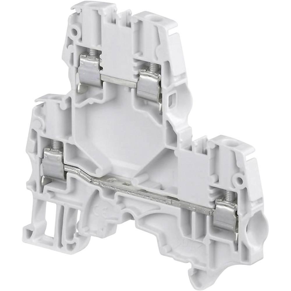 Dobbeltlags-gennemgangsklemme 5.2 mm Skruer Belægning: L Grå ABB 1SNK 505 210 R0000 1 stk