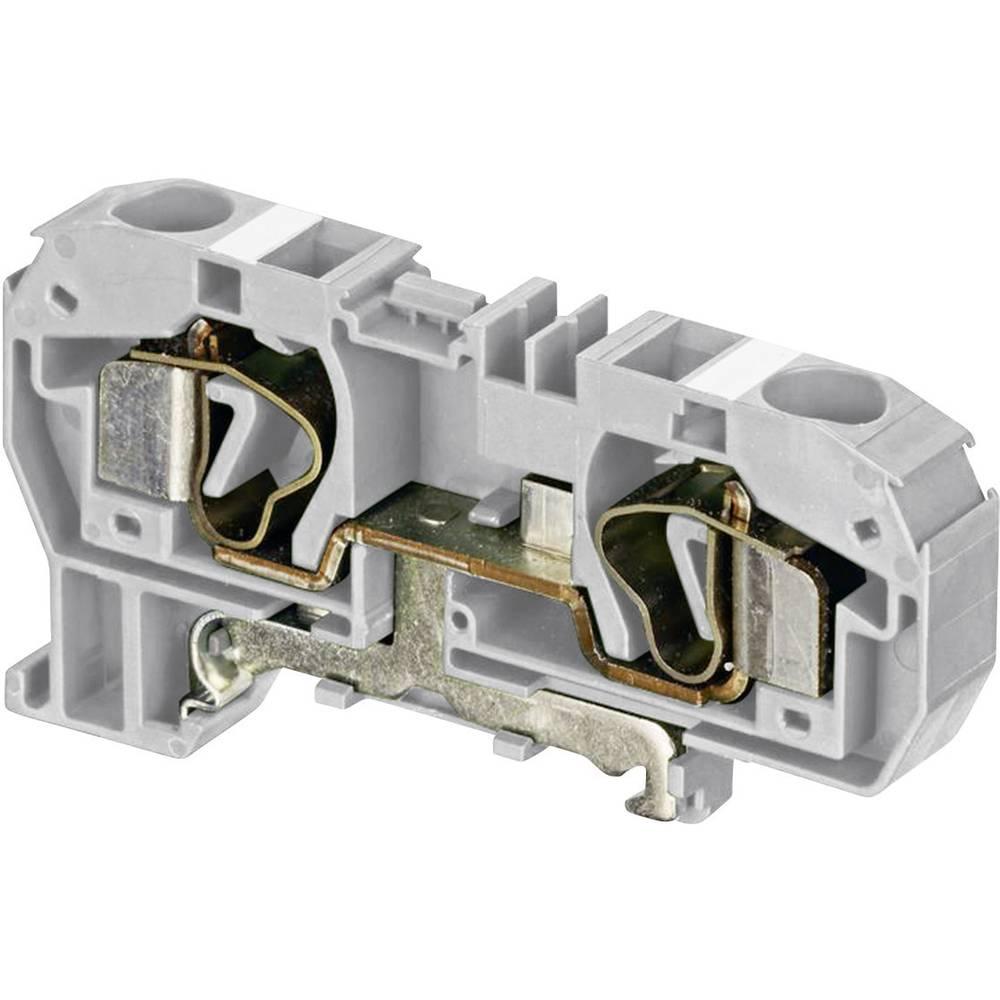 Gennemgangsklemme 10 mm Trækfjeder Belægning: L Grå ABB 1SNA 290 291 R0300 1 stk