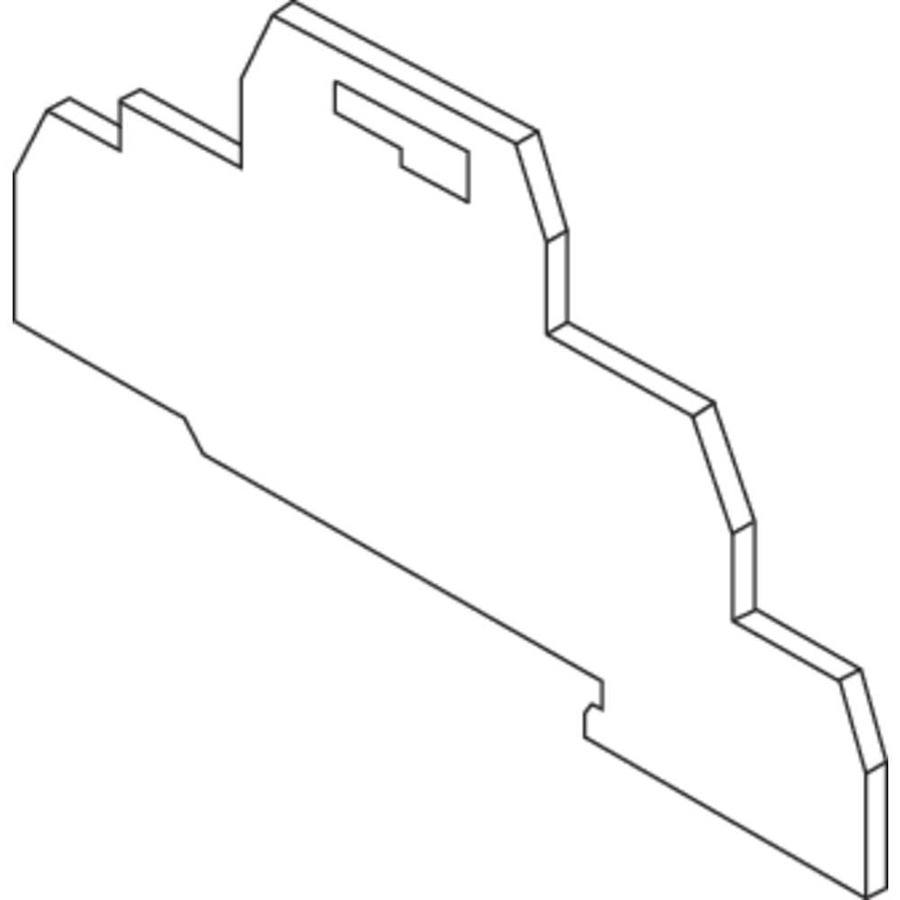 Endeplade for terminaler med fjederkrafttilslutning FED10.2L ABB 1 stk