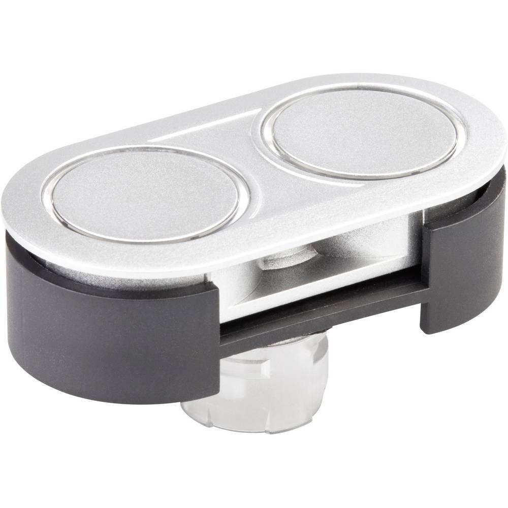 Dvojni-Pritisni gumb-aktuator ploski iz nerjavečega jekla Schlegel RRJDTLR 10 kosov
