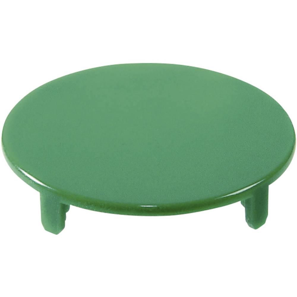 Pokrov za gumb, okrogel,ploski zelene barve Schlegel T22RRGGN 10 kosov