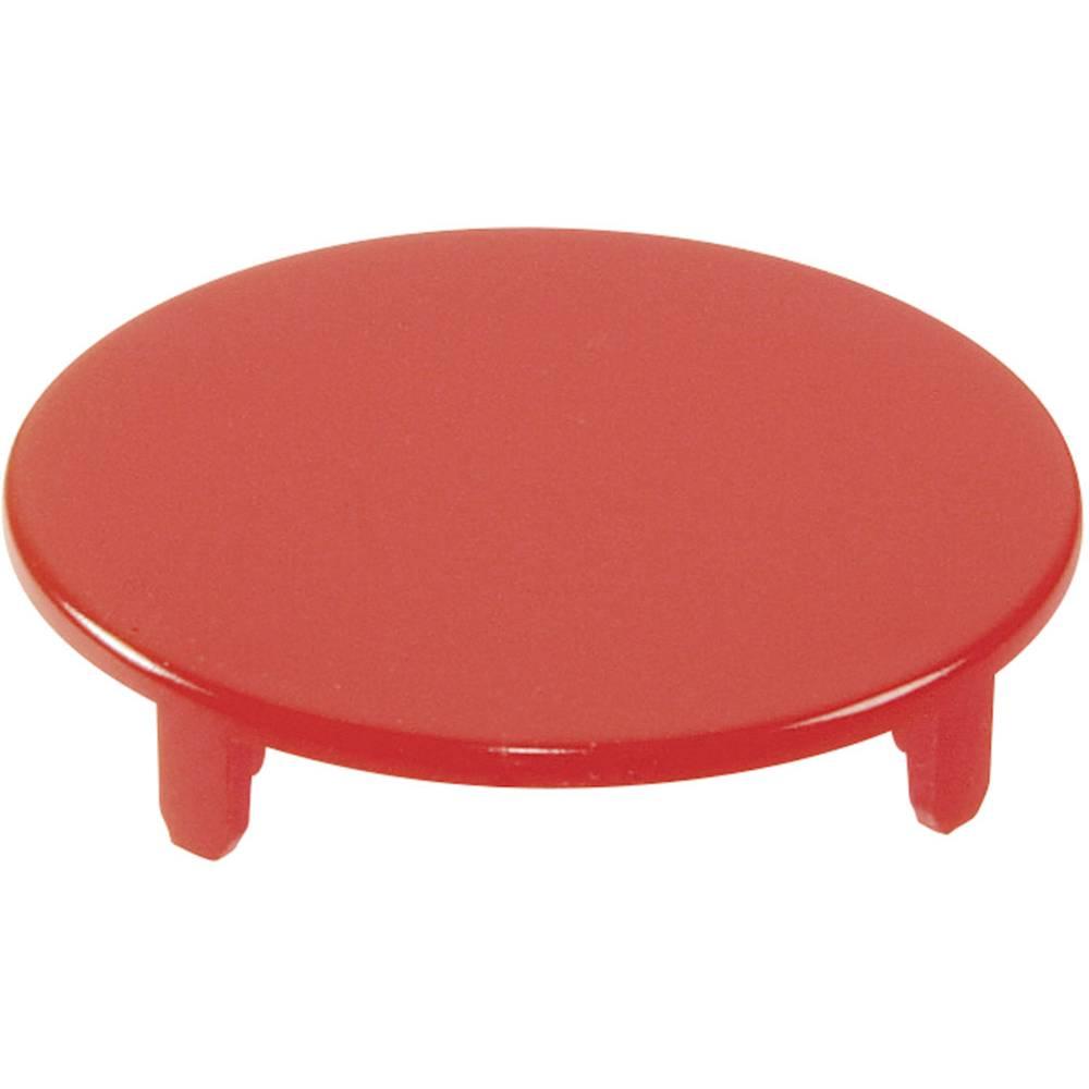 Pokrov za gumb, okrogel,ploski rdeče barve Schlegel T22RRGRT 10 kosov