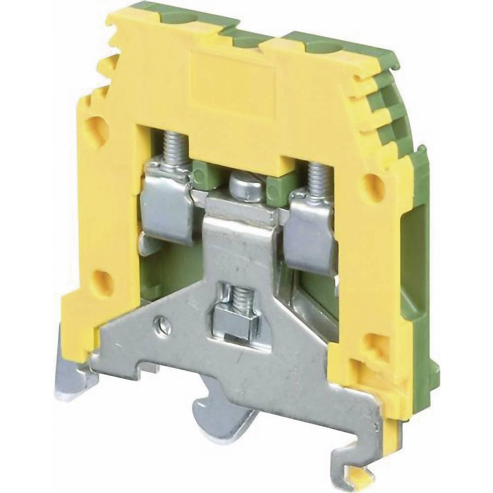 Jordklemme 6 mm Skruer Belægning: Terre Grøn-gul ABB 1SNA 165 113 R1600 1 stk