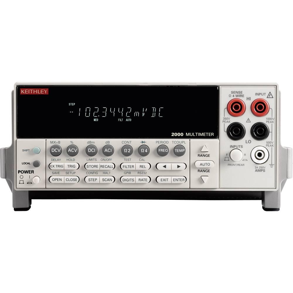 Namizni multimeter Keithley 2000E kalibracija narejena po: delovnih standardih,