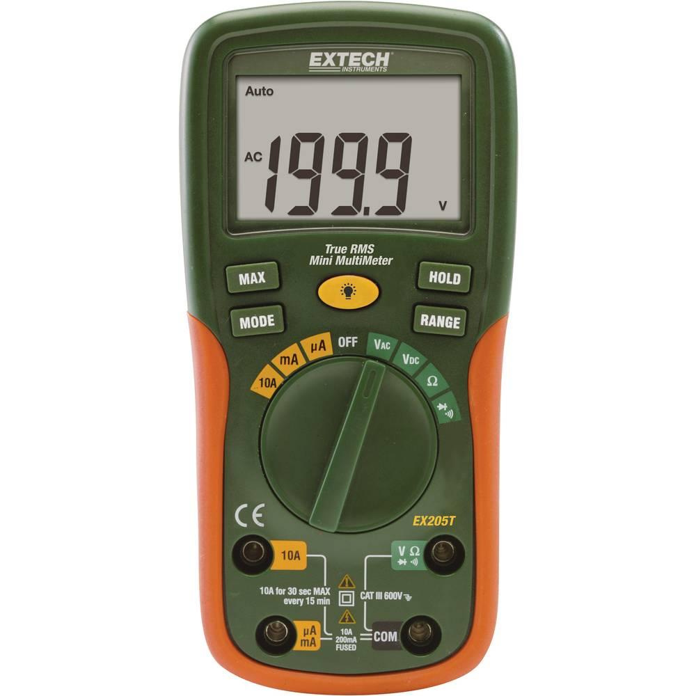 Ročni multimeter, digitalni Extech EX205T kalibracija narejena po: delovnih standardih, CAT III 600 V število znakov na zaslonu: