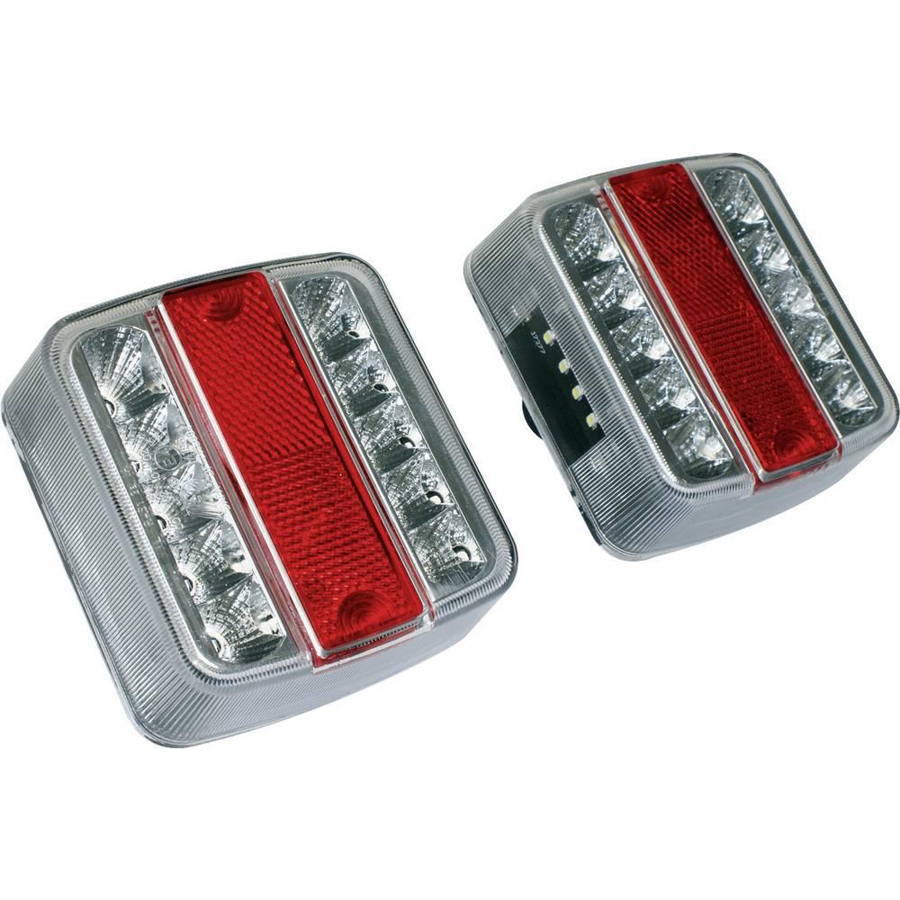 LED Anhænger-baglygte LAS benstre, højre Rød, Sølv