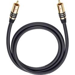 Cinch avdio priključni kabel [1x Cinch vtič - 1x Cinch vtič] 5 m črne barve, pozlačeni vtični kontakti Oehlbach