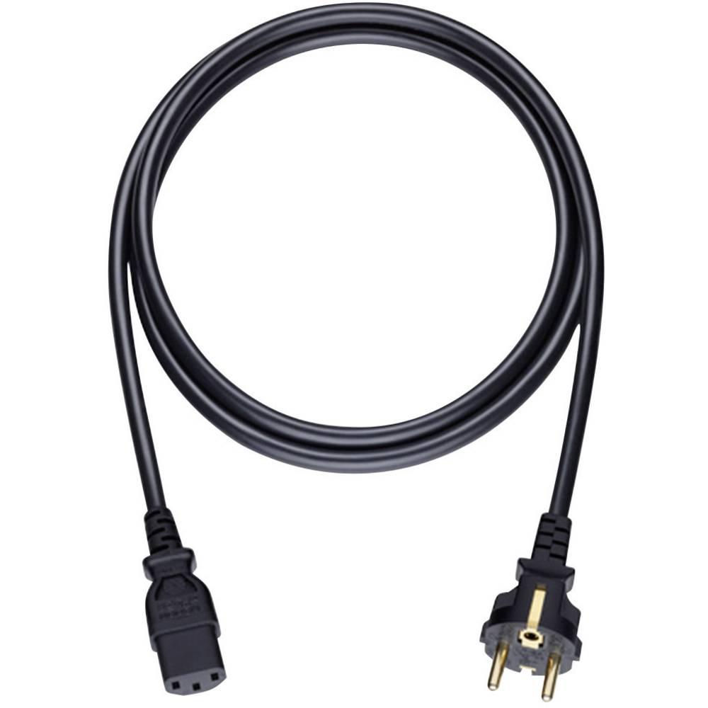 Strujni kabel [1x utikač za hladne uređaje C14 - 1x zaštitni utikač] 5 m crni Oehlbach