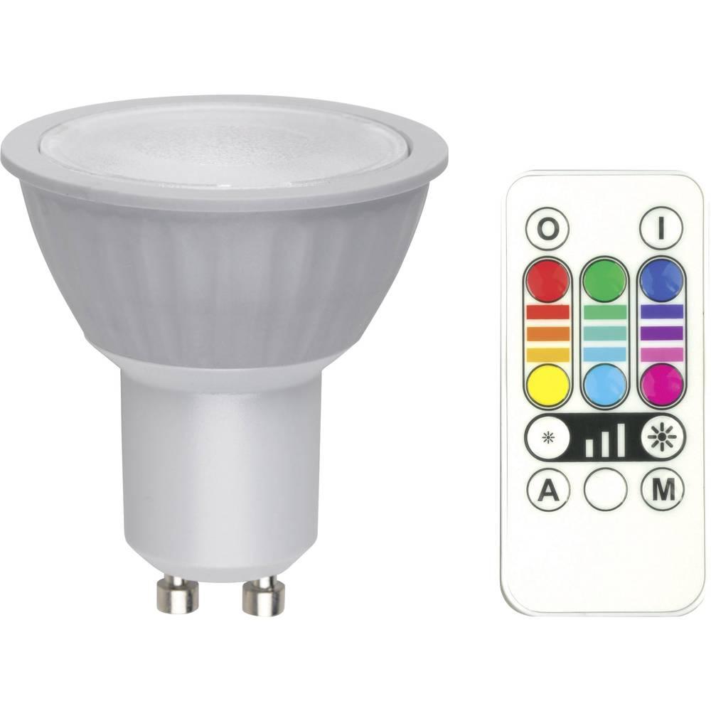LED žarulja (RGB) 77 mm JEDI Lighting 230 V GU10 3.5 W = 25 W RGB KEU: A Reflektor prigušivanje, mijenjanje boja sadržaj 1 kom.