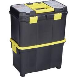 Kovček za orodje Alutec 56350 iz umetne mase črne barve, rumene barve