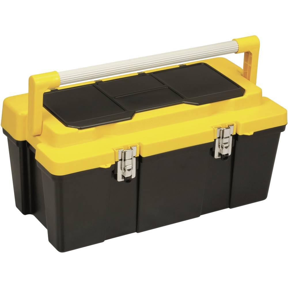 Kutija za alat, prazna Alutec 56470 umjetna masa, crna, žuta