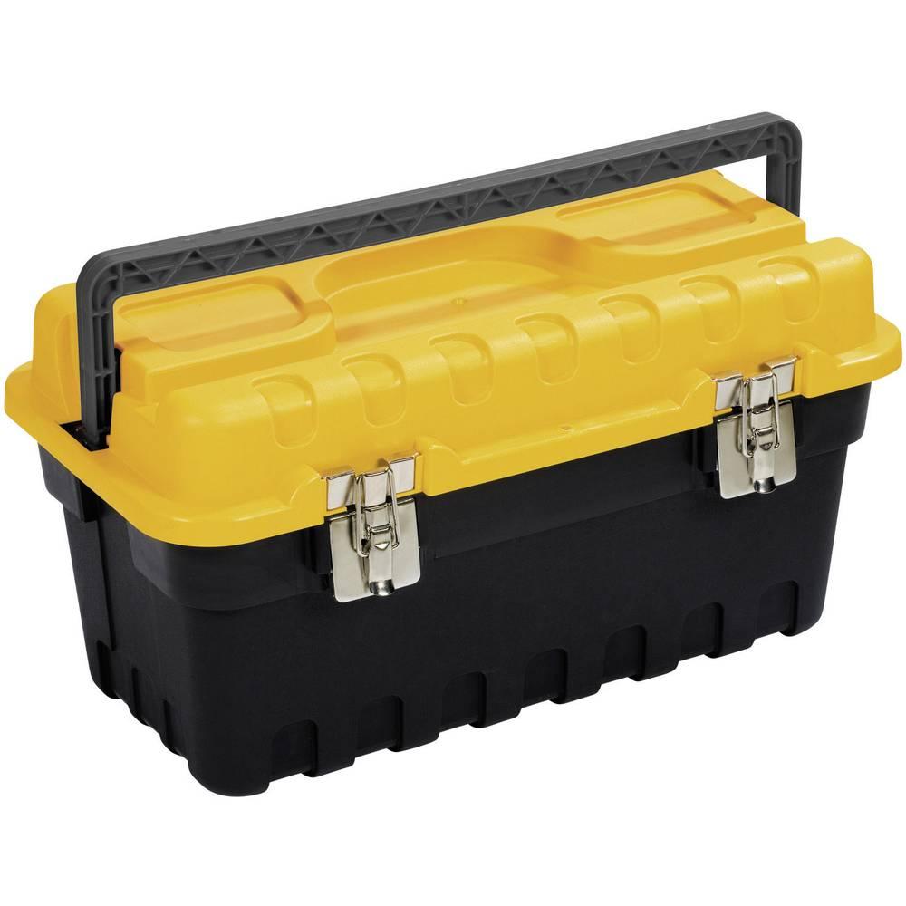 Kutija za alat, prazna Alutec 56520 umjetna masa, crna, žuta