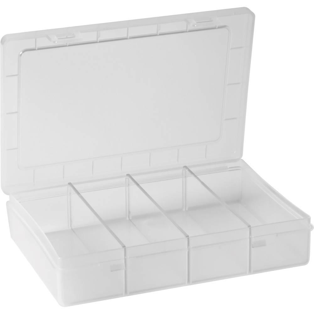 Sortirna kutija (D x Š x V) 180 x 140 x 40 mm Alutec br. pretinaca: 1 fiksna podjela