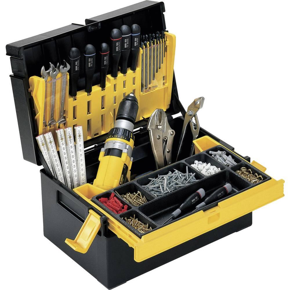 Kutija za alat, prazna Alutec 56550 umjetna masa, crna, žuta