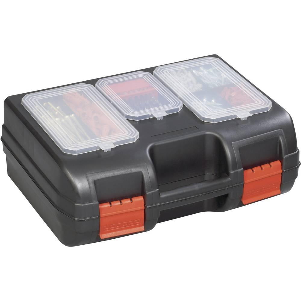 Kutija za alat, prazna Alutec 56610 umjetna masa, crna, crvena