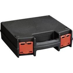Kovček za orodje, brez vsebine Alutec 56630 iz umetne mase črne barve, rdeče barve