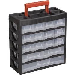 Kovček za orodje, brez vsebine Alutec 56660 iz umetne mase črne barve, rdeče barve