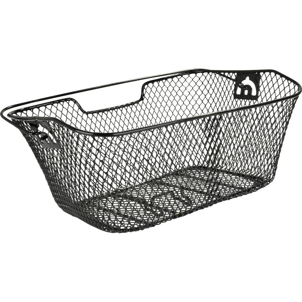 Košara za kolesarski prtljažnik, gosto tkana, črne barve, 61063