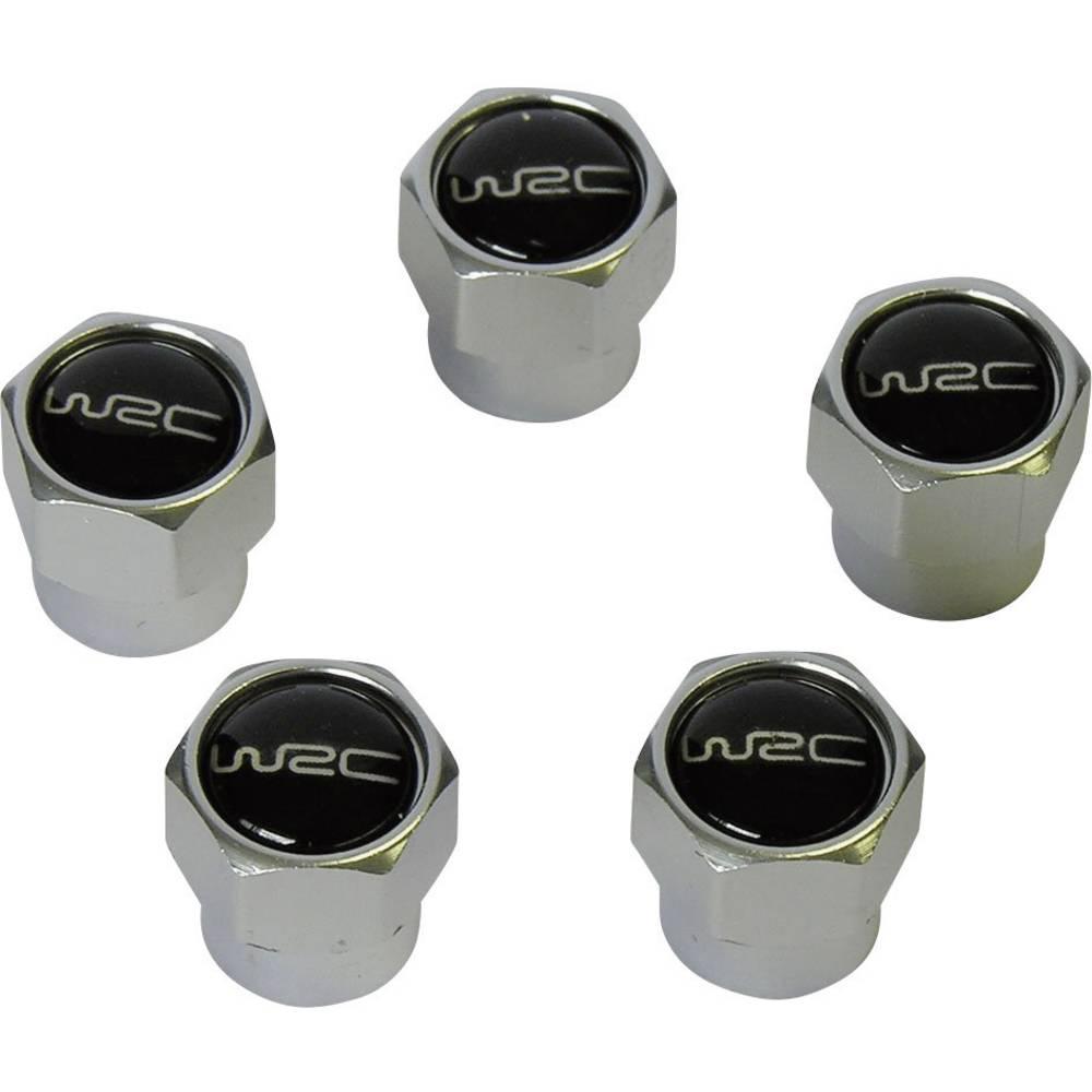 Unitec WRC-Aluminijasti pokrovi ventilov, črni, 5 kosov