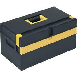 Kovček za orodje, brez vsebine Alutec 56560 iz umetne mase črne barve, rumene barve