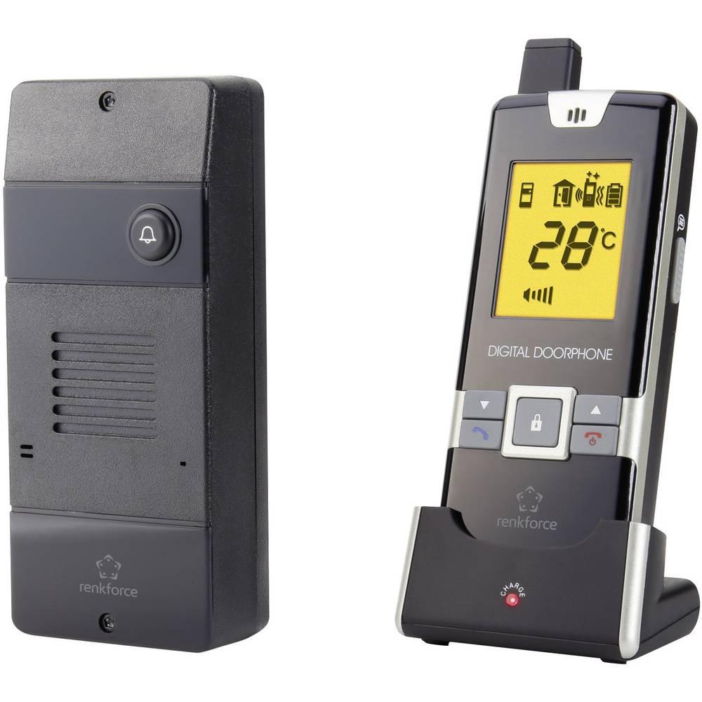 Portafon - bežični komplet Renkforce 1168614 za 1 obiteljsku kuću, crni