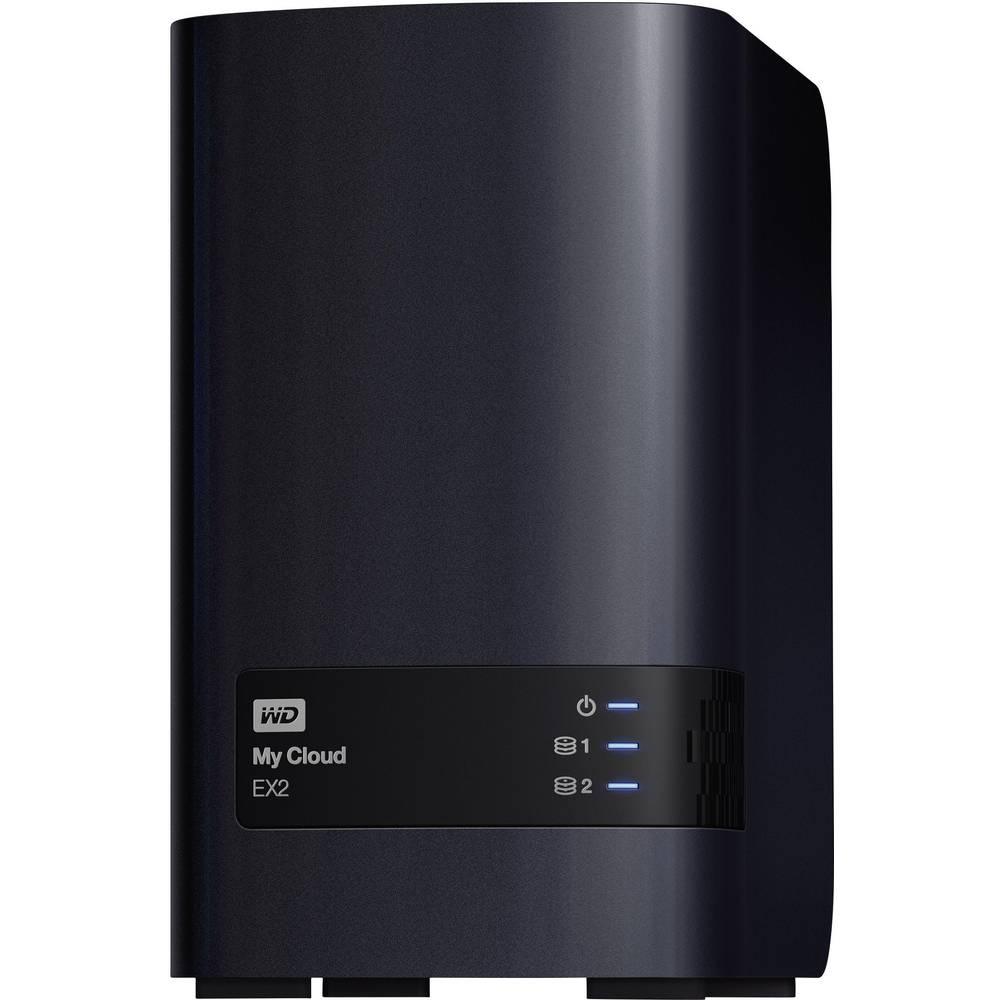 NAS strežnik Western Digital My Cloud EX2, 16 TB, osebno sranjevanje v oblaku (2x8TB), opremljen z WD RED, RAID zmožen, WDBVBZ01