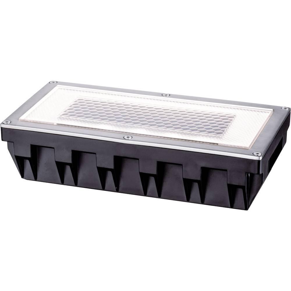 Solarna vgradna svetilka 0.6 W toplo-bele barve Paulmann Box 93775 srebrno-sive barve