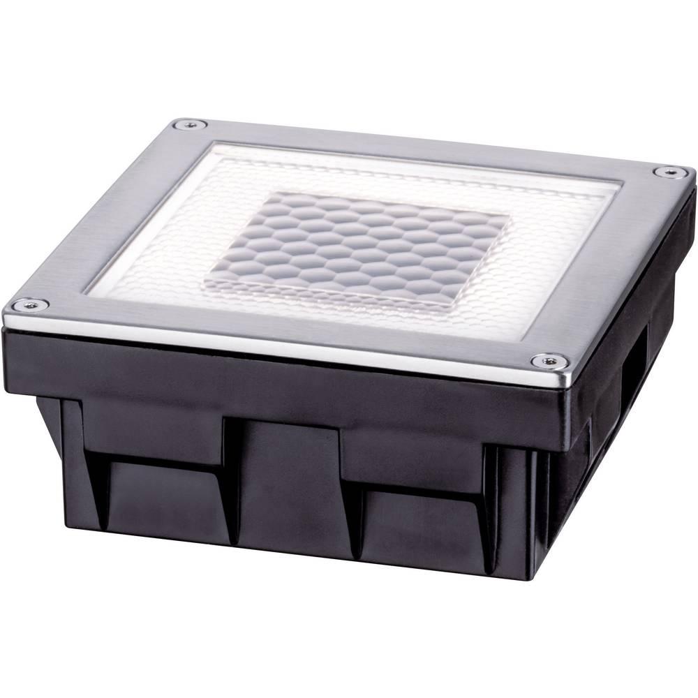Solarna vgradna svetilka 0.24 W toplo-bele barve Paulmann Cube 93774 iz nerjavečega jekla
