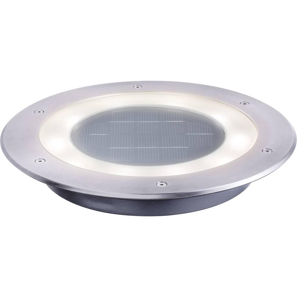 Solarna vgradna svetilka 0.6 W toplo-bele barve Paulmann Jupiter 93777 iz nerjavečega jekla