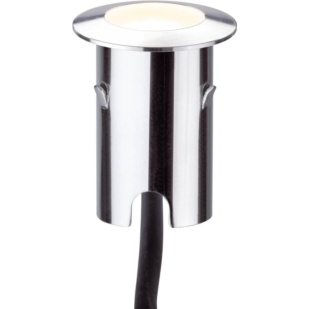 LED-zunanja vgradna svetilka 4x komplet 2.8 W Paulmann 93784 srebrne barve