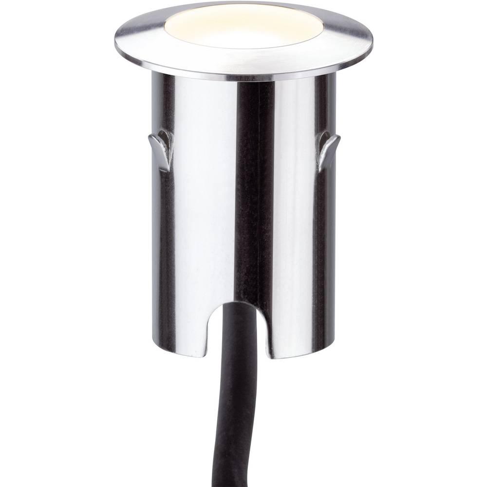 LED-zunanja vgradna svetilka 4x komplet 2.8 W Paulmann 93783 srebrne barve