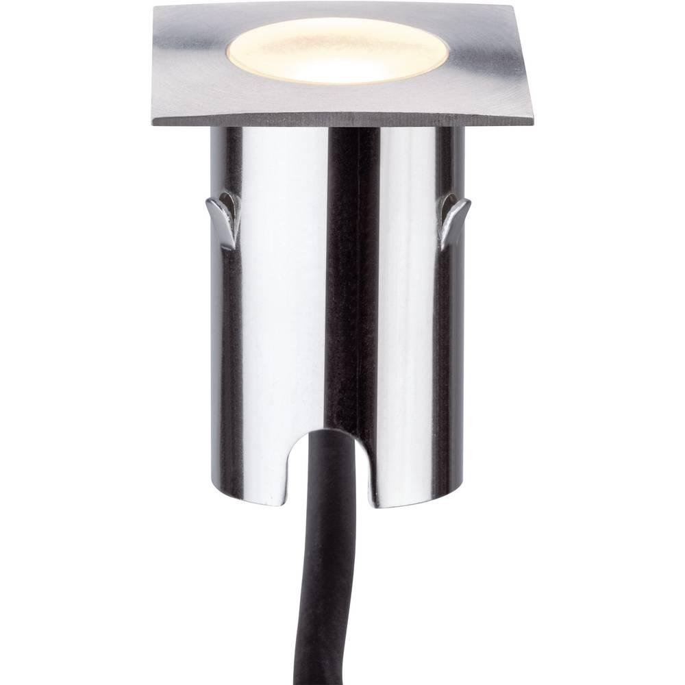 LED-zunanja vgradna svetilka 4x komplet 2.8 W Paulmann 93786 srebrne barve