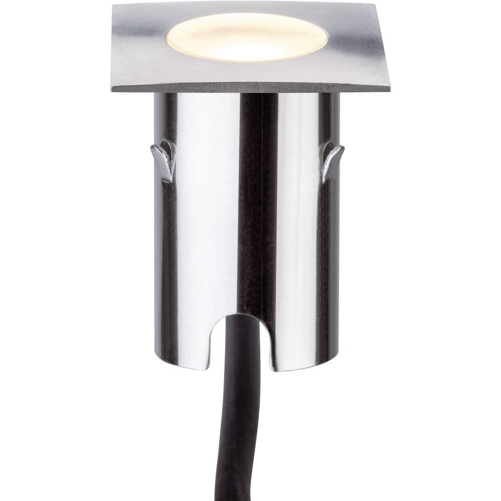 LED-zunanja vgradna svetilka 4x komplet 2.8 W Paulmann 93785 srebrne barve