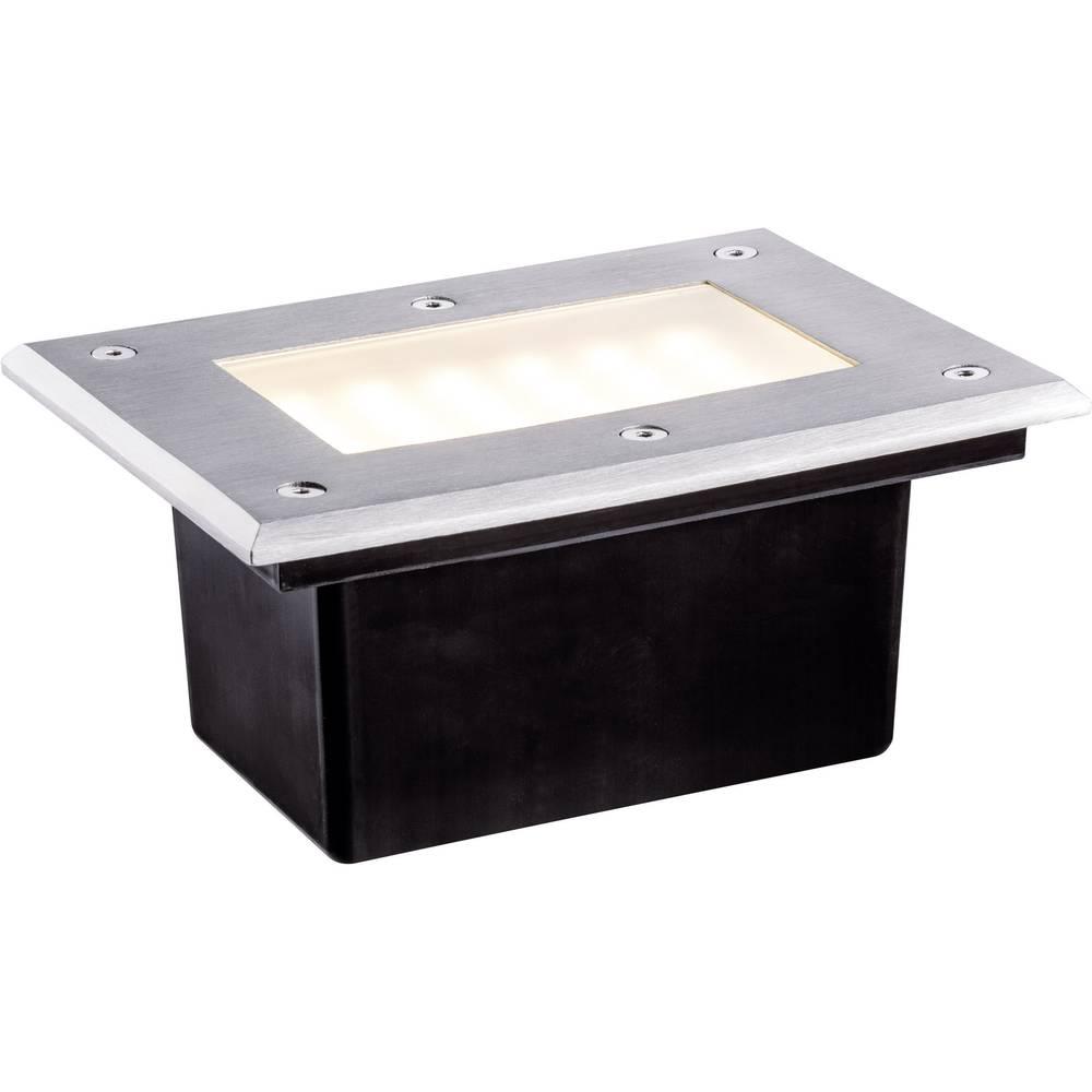 LED-zunanja vgradna svetilka 2.5 W Paulmann 93796 srebrne barve, črne barve