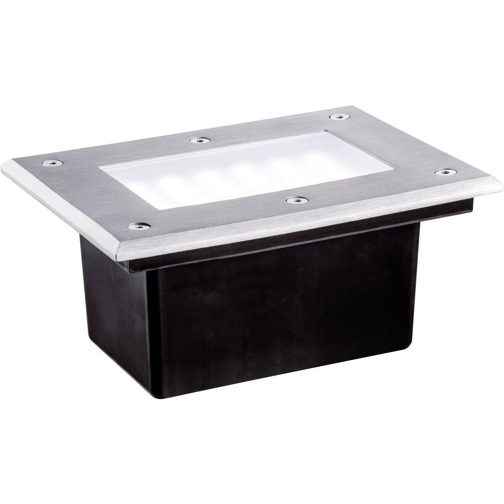 LED-zunanja vgradna svetilka 2.5 W Paulmann 93797 srebrne barve, črne barve