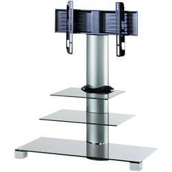 TV-golvstativ VCM Morgenthaler 55,9 cm (22) - 119,4 cm (47) 30 kg Svängbar Silver, Klar