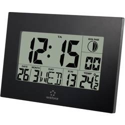 Radijski kontrolirani zidni sat Renkforce E0311R 230 mm x 163 mm x 28 mm crne boje