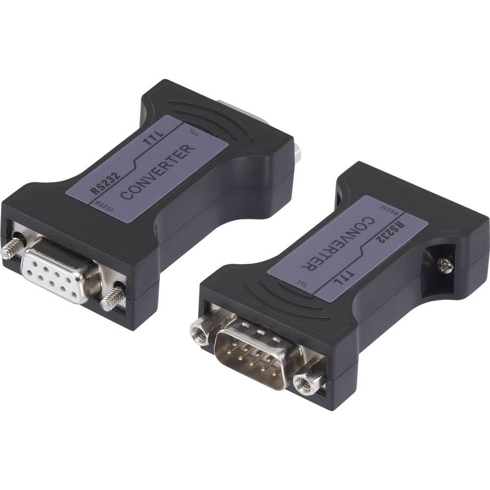 Serijski adapter [1x D-SUB-utikač 9pol. - 1x D-SUB-utičnica 9pol.] 0 m crni Renkforce