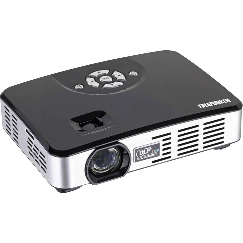 LED Projektor Telefunken DLP400 svetilnost: 400 lm 1280 x 800 WXGA 1000 : 1 črn/srebrn