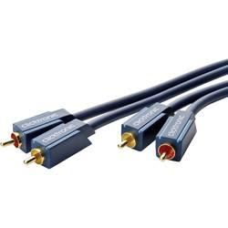 Avdio priključni kabel clicktronic [2x Cinch vtič - 2x Cinch vtič] 1 m moder pozlačen vtični kontakt