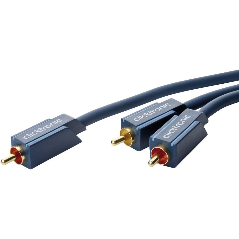 Avdio Y kabel Clicktronic [1x Cinch vtič - 2x Cinch vtič] 2 m moder pozlačen vtični kontakt