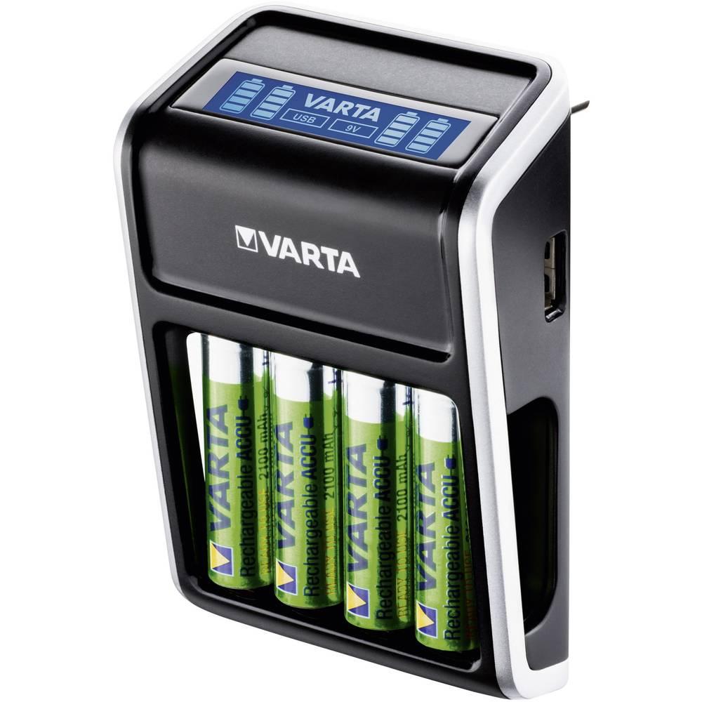 Varta Vtična polnilna naprava LCD Plug, vklj. 4 ReadyToUse Mignon-akumulatorji 2100 mAh 57677101441