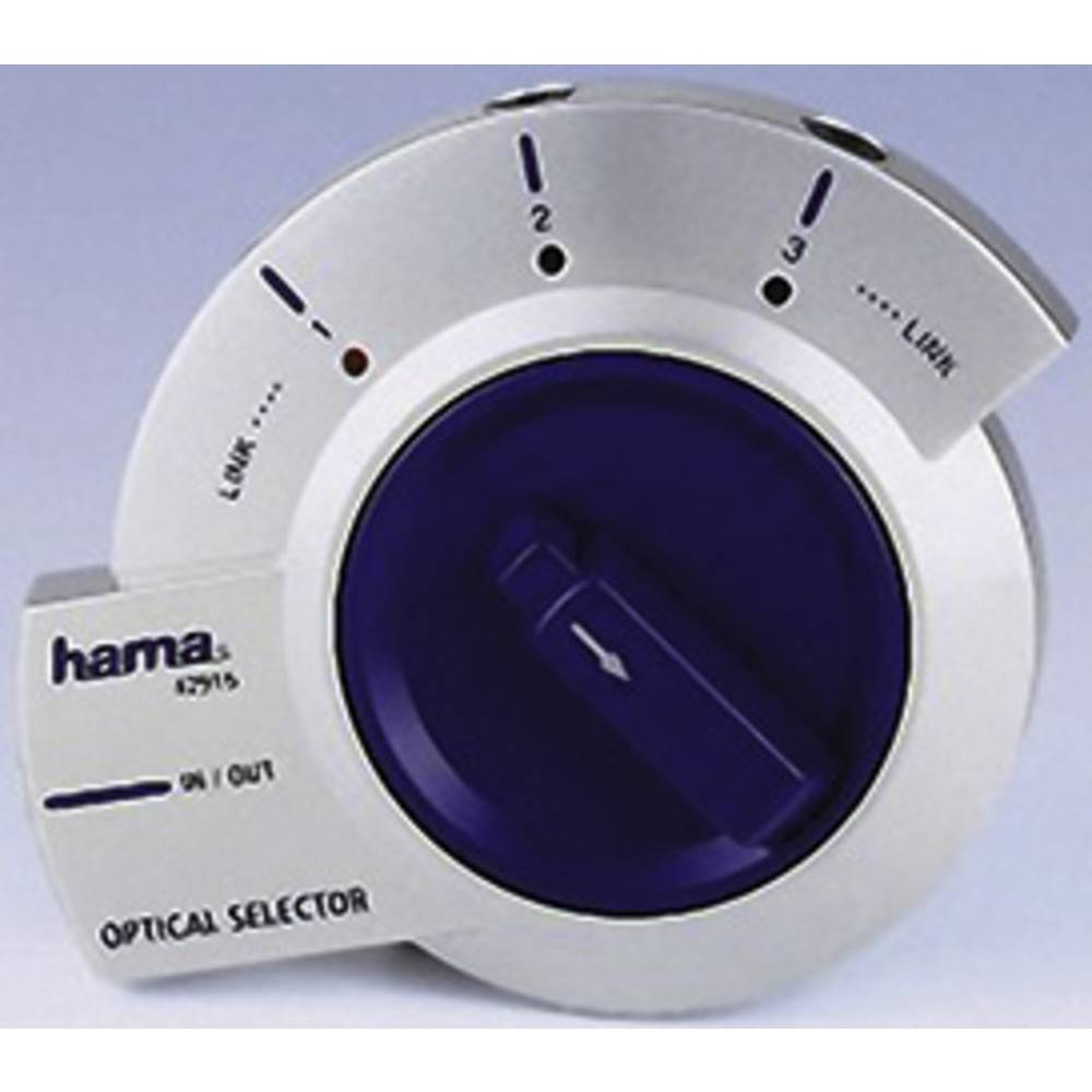 Audio Optični Selektor 1-3, 3,5 mm Opti-priključki 42916 Hama