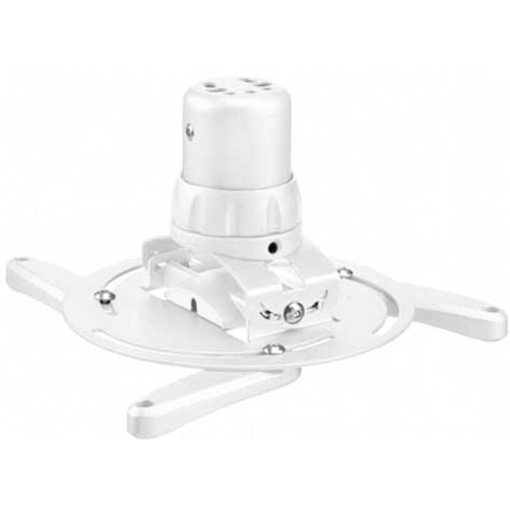 Stropni nosilec za projektor, nagiben, vrtljiv, razdalja od tal/stropa (maks.): 14.4 cm Vogel´s PPC 1500 bele barve