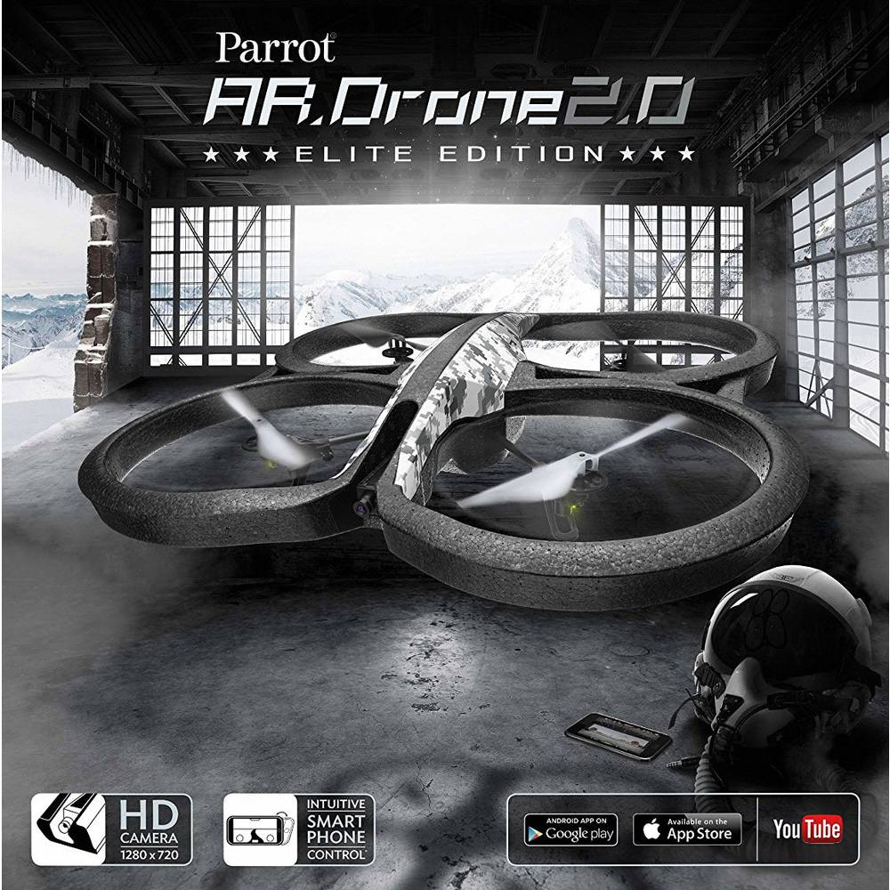 Kvadrokopter Parrot AR.Drone 2.0 Elite Edition, Snow, RtF, s kamero 01807