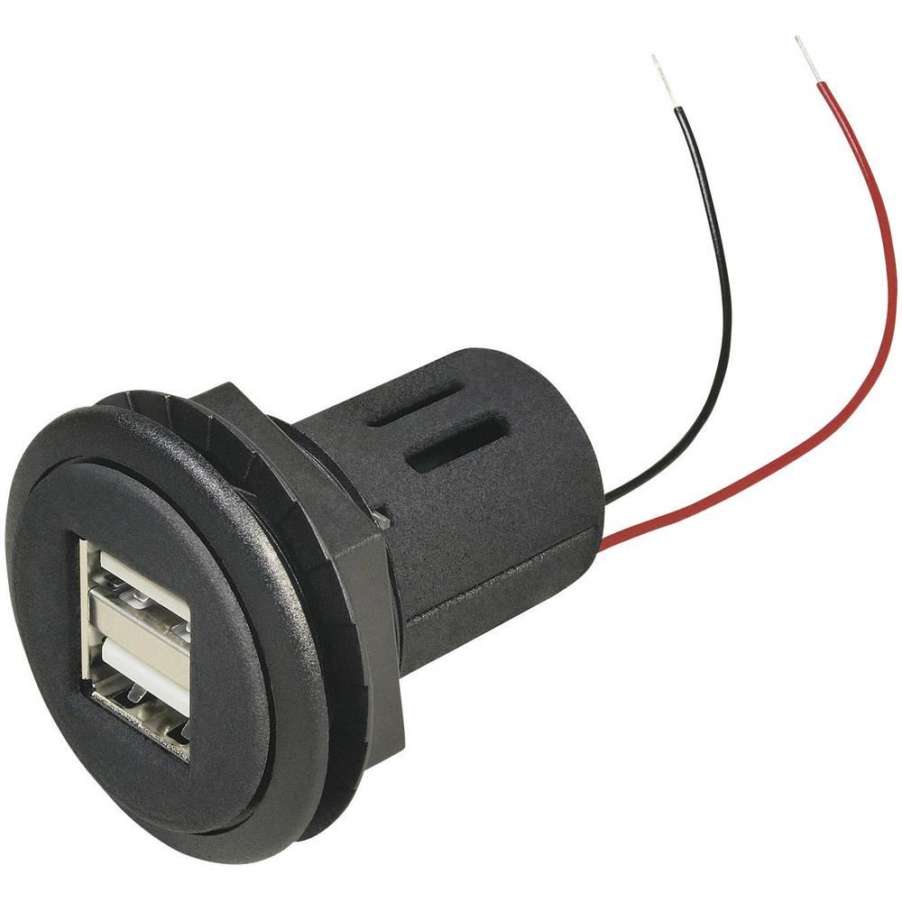 ProCar-Automobilska USB ugradna utičnica, dvostruka, opterećenje struje max.= 5000mA