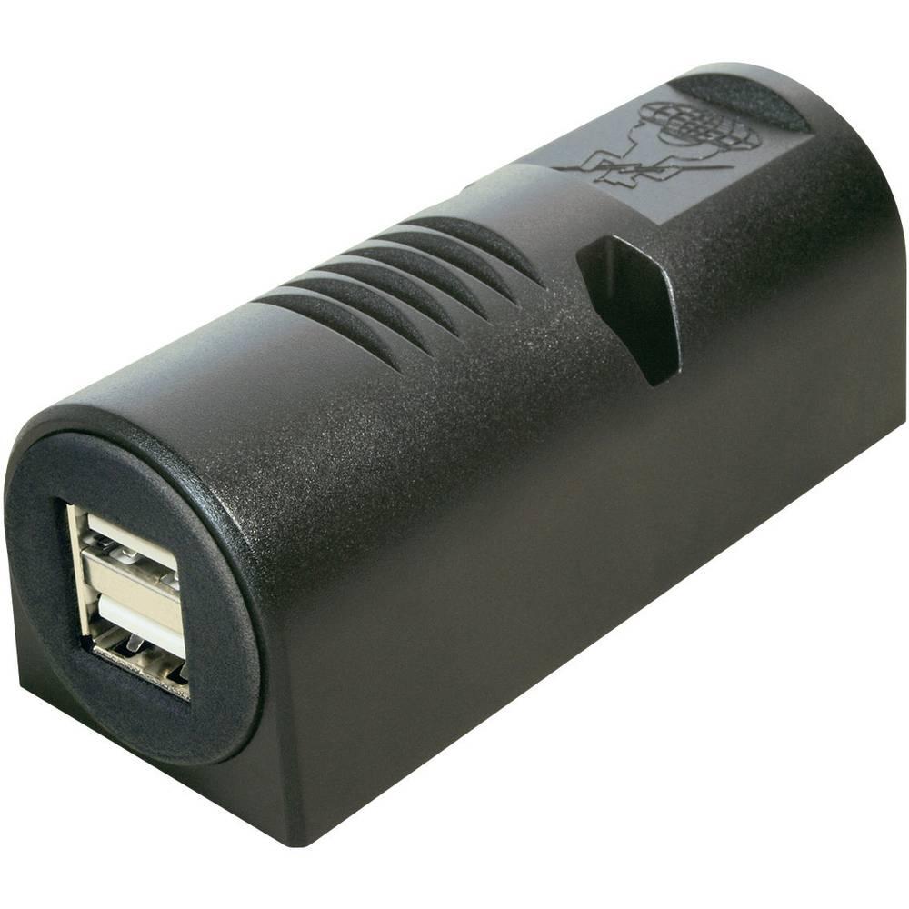 ProCar Dvojna USB vtičnica za površinsko pritrditev, maks. tokovna obremenitev: 5000 mA za USB-A