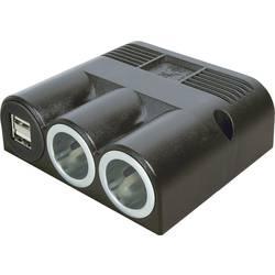 ProCar Dvojni razdelilnik z 2 USB vtičnicama, maks. tokovna obremenitev: 16 A za cigaretni vžigalnik