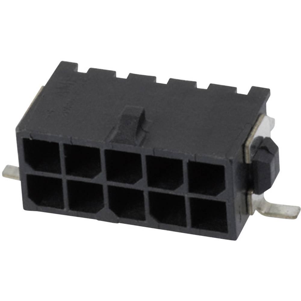 Stiftliste (standard) Micro-MATE-N-LOK Samlet antal poler 10 TE Connectivity 4-794627-0 Rastermål: 3 mm 1 stk